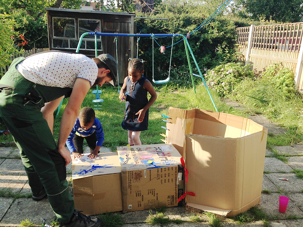 Building a den at home during a Play Consultation; the first step we do with every family before giving them a full home home delivery according to their individual needs.