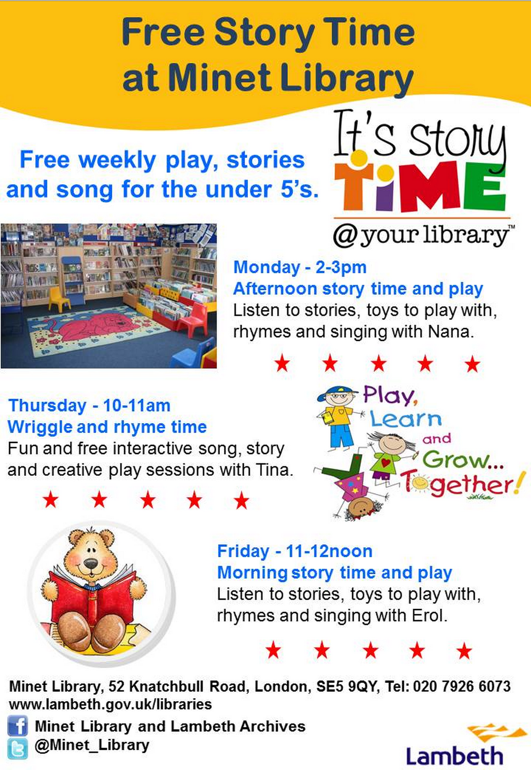 Minet library storytime