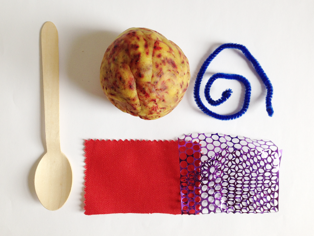 What you will need to start making patterns on play dough
